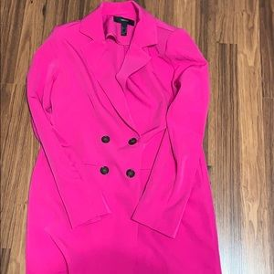 Pink Blazer Mini Dress